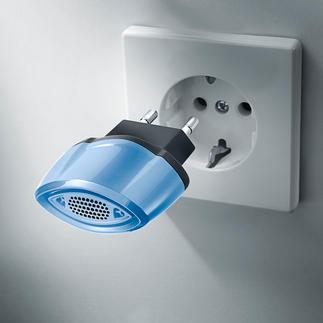 Prise anti-acariens Élimine les vecteurs d'allergies par la technologie à ultrasons. En toute sécurité et de façon autonome