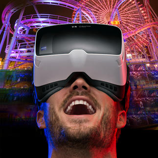 Masque ZEISS VR ONE Plus à plateau coulissant pour téléphone portable Le meilleur de l'immersion 3D : headtracking et un champ de vision de 100 ° (au lieu de 45 °).