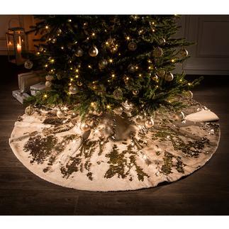 Tour de sapin à paillettes Bel effet métallisé : féérie scintillante sous le sapin de Noël.