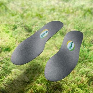 Semelles en Noene® Un matériel high-tech qui préserve vos articulations, adapté à toutes les chaussures et de seulement 2 mm d'épaisseur.