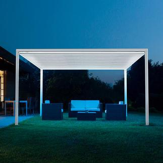 Pavillon Jusqu'à 16 m² (!) d'ombre, par simple pression sur une touche, aisément et rapidement.
