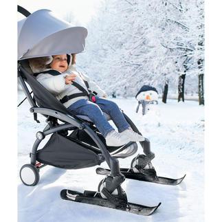 Skis pour poussette Pour glisser au lieu de pousser au moyen de grands efforts.