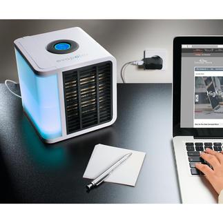 Climatiseur Personal Air-Cooler Refroidit, humidifie et purifie l'air dans un volume de 3 à 4 m³.