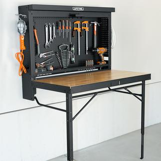 Etabli repliable Astucieux système pliable, pour un gain de place appréciable. Prêt en un tour de main. Peu encombrant.
