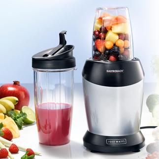 Blender à smoothie Gastroback Ce blender de 1.000 watts extrait le jus des fruits et légumes et en tire tous les nutriments.
