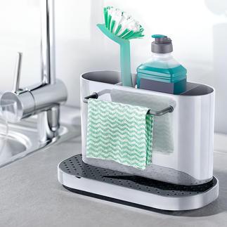 Organiseur d'évier Vos ustensiles pour la vaisselle parfaitement rangés, au sec et à portée de main.
