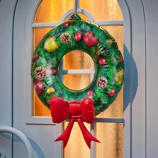Couronne de porte gonflable Une décoration de Noël prête en quelques secondes. A renouveler année après année.