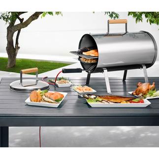 Fumoir cylindrique Préparez de délicieux aliments fumés à chaud, pour une cuisson parfaite.