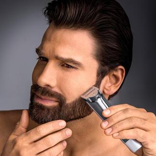 Tondeuse à barbe Carrera No 623 Pour les poils courts et longs. Tête de coupe ultra étroite et lames tranchantes en acier inox à revêtement titane.