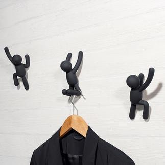Crochets vestiaire « Grimpeurs », lot de 3 pièces Objet d'Art moderne ou vestiaire mural artistique ? Les deux voyons !