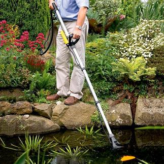 Aspirateur manuel pour bassins Pond Vac Jusqu'à 30 % de réduction de temps de nettoyage et jusqu´à 50 % d'aspiration en plus.