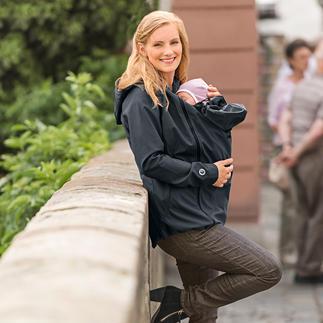 Veste à capuche 3-en-1 Une belle veste à l'entretien aisé, coupe-vent et déperlante et une veste de grossesse.