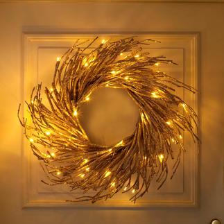 Couronne déco à LED Une atmosphère chaleureuse et lumineuse, comme tombée des étoiles.