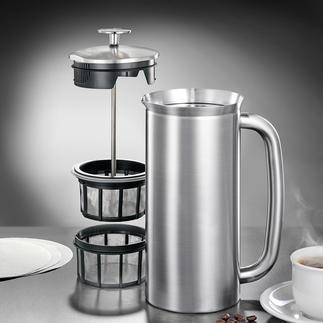 Cafetière à piston ou Gobelet thermos Espro® French-Press Equipement astucieux : la cafetière à piston avec double système de micro-filtres et fonction isotherme.