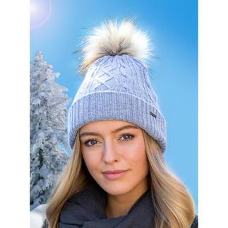 Bonnets chauffant à pompon Un incontournable de la mode : le bonnet à pompon, maintenant avec chauffage intégré.