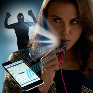 Sifflet d'alarme SOS SmartWhistle Une assistance rapide au moindre coup de sifflet ou en appuyant sur un bouton.