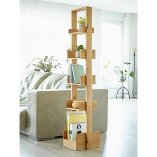 Etagère design Bookie par wireworks Etagère polyvalente en bois de chêne dans l'air du temps.