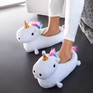 Chaussons « licorne » Des pieds bien au chaud, protégés par un animal légendaire.