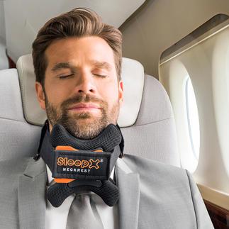 Appuie-tête de voyage SleepX® Ne comprime pas, déleste efficacement la colonne vertébrale et la nuque.
