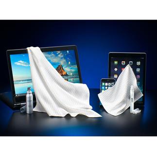 Set de nettoyage écran e-cloth® 4 pièces Pour une brillance éclatante et une propreté hygiénique en un seul geste.