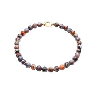 Collier ou Bracelet en agates du Botswana Unique de par ses couleurs et sa structure, il reste cependant très abordable.