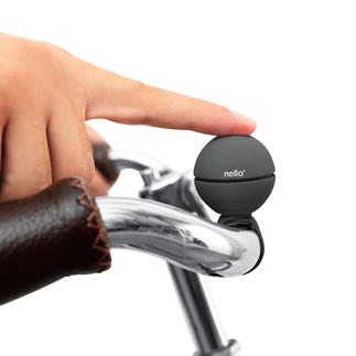 Sonnette-balle Balle sonnette pour bicyclette avec 3 mélodies au choix. Sécurisé contre le vol. S'adapte à tous les guidons.