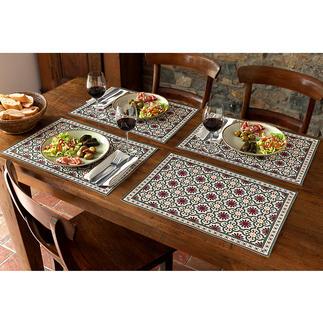 Chemin de table ou Sets de table mauresque Une beauté durable, à essuyer avec un chiffon. Pour l'intérieur et l'extérieur.