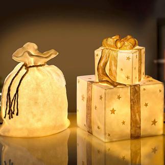 Lampe « sac de Noël » ou « cadeaux » Ces objets lumineux festifs vont même étonner le Père-Noël.
