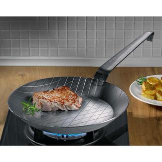 Poêles en fer forgé Résistent à des températures très élevées, quasi indestructibles, imbattables pour saisir les aliments.