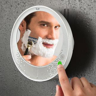 Miroir antibuée Bluetooth Miroir de douche et de salle de bain, enceinte Bluetooth et système mains libres.