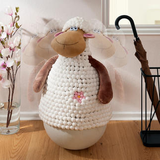 Mouton poussah Un ravissant poussah, qu'on adore déstabiliser.