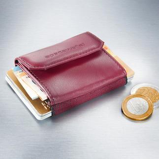 Mini porte-monnaie femme Space Wallet® Le porte-monnaie féminin le plus astucieux et le moins encombrant.