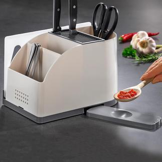 Rangement pour ustensiles de cuisine À la fois bloc couteaux et support à ustensiles. Une exclusivité Pro-Idée.