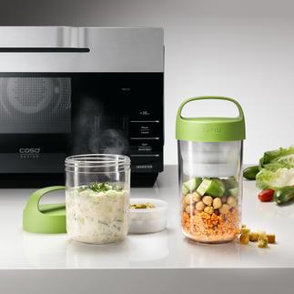 Boîte à lunch 2-en-1 La boîte à lunch 2-en-1 pour les plats chauds ou froids, les aliments liquides ou solides.