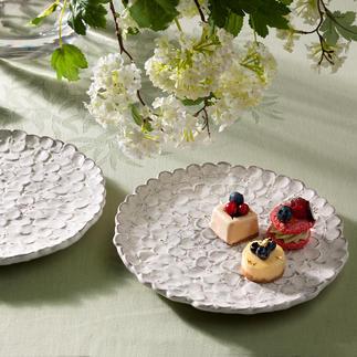 Assiettes hortensias, lot de 2 pièces Un océan de fleurs confectionné à la main.