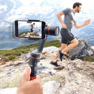 Stabilisateur Rollei Smartphone-gimbal Enfin des vidéos stables, sans tremblements, à partir de votre smartphone – filmées à la main.
