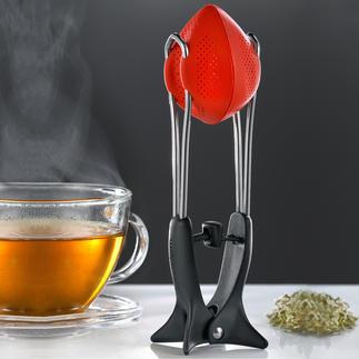 Œuf à thé en silicone L'œuf à thé flexible en silicone, avec fonction de compression innovante.