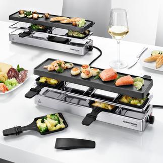 Lot de base raclette RC 1600 ou Module d'extension raclette RC 800 Enfin un grill-raclette pour les grandes tablées : jusqu'à 12 personnes.