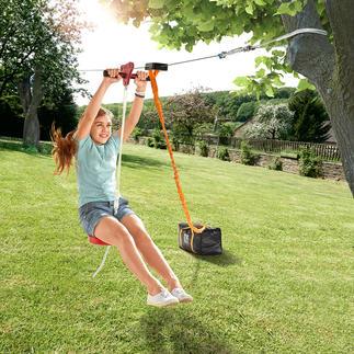 Tyrolienne de 30 mètres Découvrez le plaisir de planer dans son propre jardin …