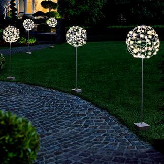 Boule de jardin Une décoration aux multiples facettes. Pour l'intérieur et l'extérieur.