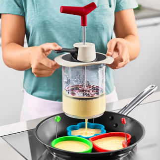 Verseur à pâte Un seul outil pour mesurer les ingrédients, les mélanger et les servir en portions précises.