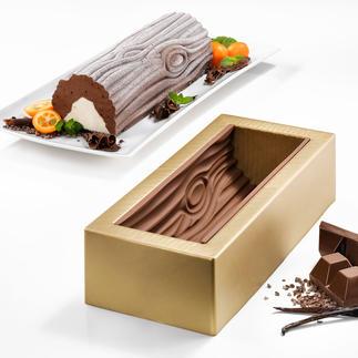 Moule « Bûche de Noël » Silikomart® Vous aussi, réussissez parfaitement un chef d'œuvre de la pâtisserie française.