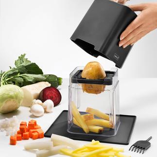 Eminceur cubes et bâtonnets, 7 pièces Une légère pression sur le couvercle suffit à trancher carottes, chou rave, concombres …