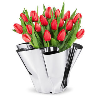 Vase à plis Margeaux Façonné artistiquement à la main, chaque vase est unique.