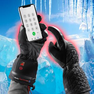 Gants d'hiver chauffants Les gants d'hiver 4.0 : chauds, imperméables, compatibles écran tactile et rechargeables par batterie.