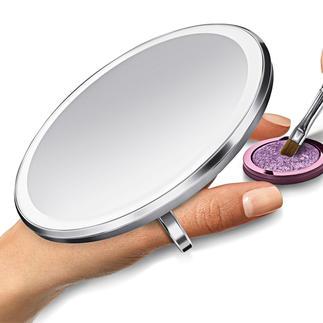 Miroir à capteur compact Éclairage puissant, uniforme et fidèle - grossissement 3x.