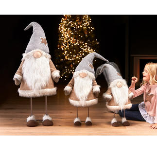 Lutin dansant « Noël » Une rare décoration de Noël animée : le lutin dansant « Noël ».  En 3 tailles impressionnantes.