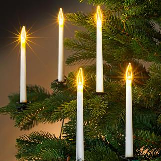 Guirlande de cierges LED Une déco moderne, tout en finesse, pour votre sapin de Noël.