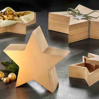 Boîtes étoiles, lot de 4 pièces Un beau coffret cadeau ou un superbe objet décoratif.
