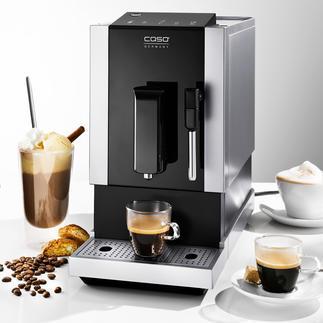 Machine à café automatique Café Crema One Caso® Une cafetière esthétique, qui sait tout faire et peu encombrante.